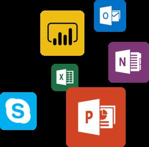 Apps geen achtergrond Skype Powerpoint Excel OneNote Outlook